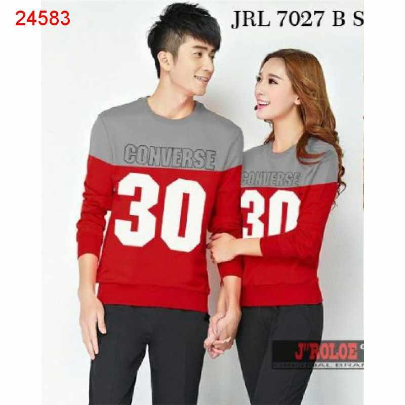 Jual Sweater Couple Sweater Converse Merah - 24583