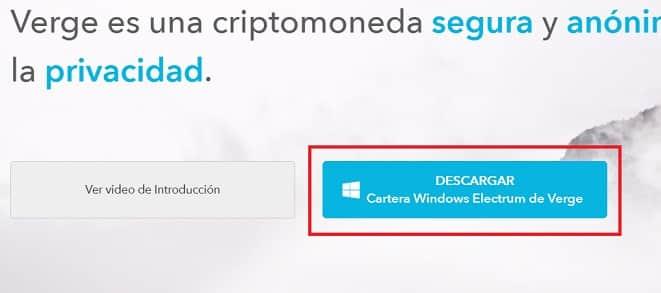 monedero oficial wallet verge XVG español instalar
