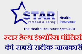 Star Health Insurance Policy Details In Hindi