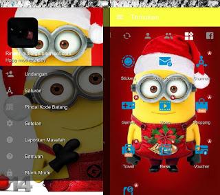 BBM Mod Minion Spesial Natal Apk Terbaru 2017  v3.2.0.6
