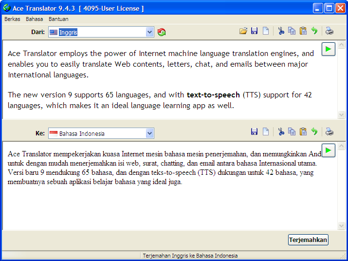 English To Italian Translator Google: Ace Translator 9.4.3 With Text-to-Speech