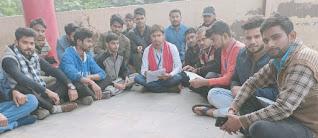 छात्र संघ चुनाव को लेकर किया प्रदर्शन  | #NayaSaberaNetwork