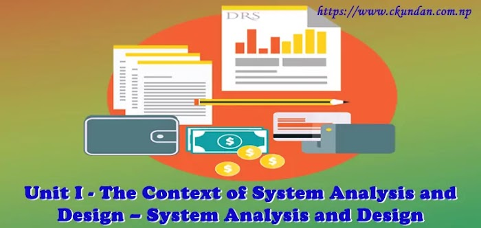 Unit I: The Context of System Analysis and Design – System Analysis and Design