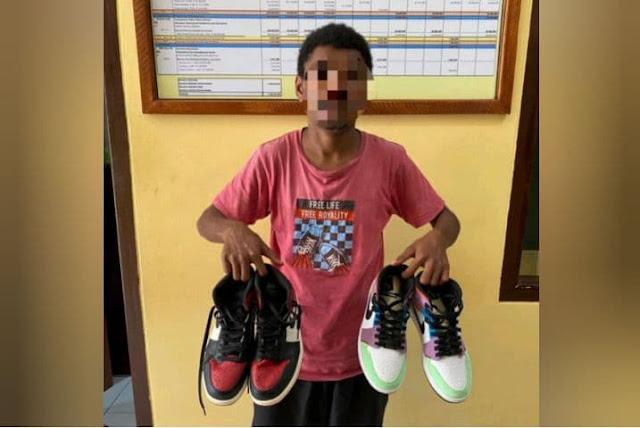 Curi Sepatu Harga Jutaan Rupiah, Pemuda di Biak Ditangkap Polisi