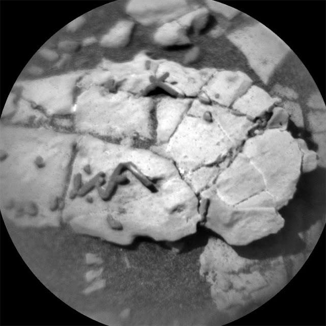 Imagem feita pela ChemCam em 31 de dezembro de 2017 - NASA - JPL-Caltech - LANL