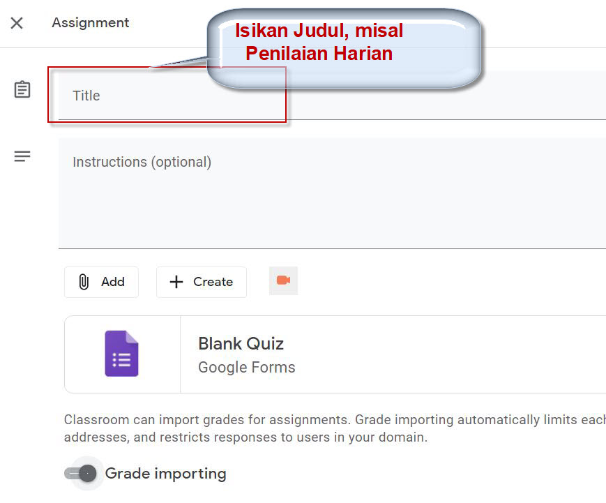 Membuat Quiz di Classroom