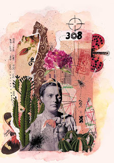 Colagem Lyudmila Pavlichenko por Maria Rosa