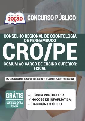 Apostila Concurso CRO PE 2020 PDF Edital Online Inscrições Fiscal