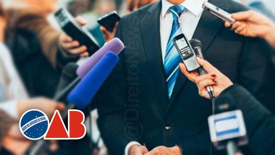 analise conteudo oab limitar entrevistas trf