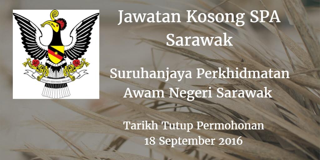 Jawatan Kosong Suruhanjaya Perkhidmatan Awam Negeri Sarawak 18 September 2016