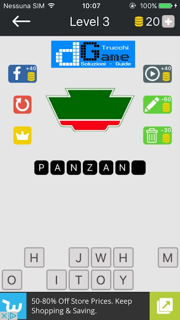 Food Quiz-Indovina il marchio soluzione pacchetto 3 livelli (1-12)
