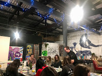 Picture of the space at boozy finger painting