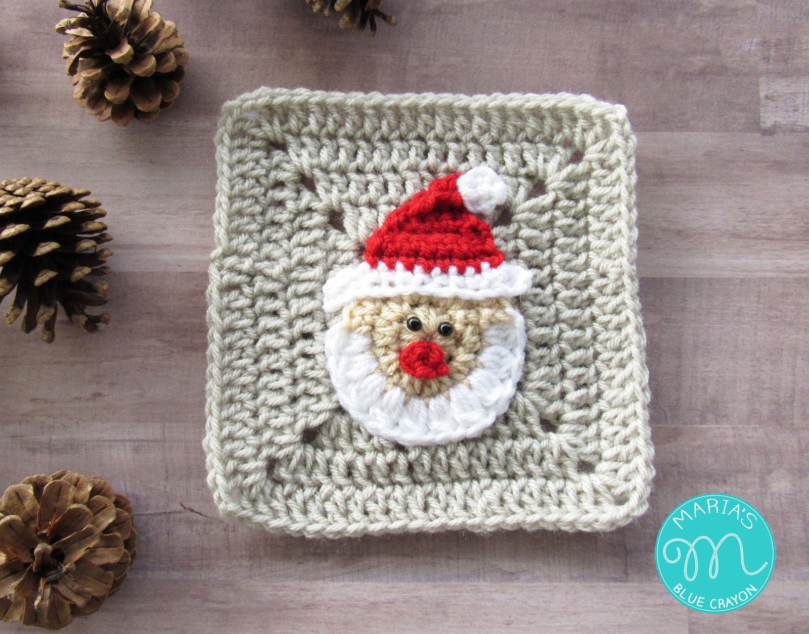Week 1 christmas granny afghan cal santa claus marias blue week 1 christmas granny afghan cal santa claus bankloansurffo Image collections