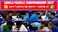 Don't Worry Be Happy was 22nd round in World Puzzle Championship 2017.