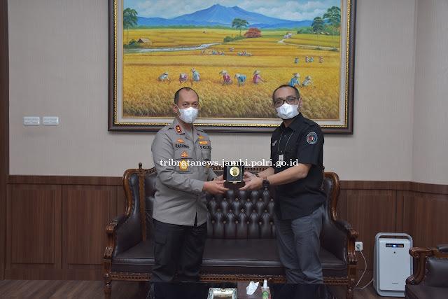 Antisipasi Karhutla, Kapolda Jambi Gelar Silaturahmi dengan Deputi Telkom Indonesia