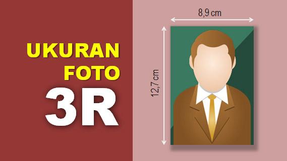 Ukuran Foto 3R dalam CM dan Pixel  Templatenya di Photoshop