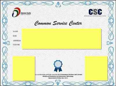 Download CSC Certificate