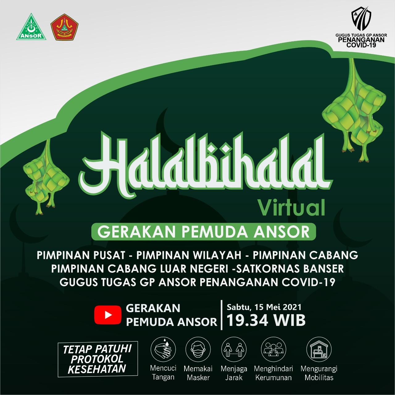 Halal Bihalal Virtual Gerakan Pemuda Ansor