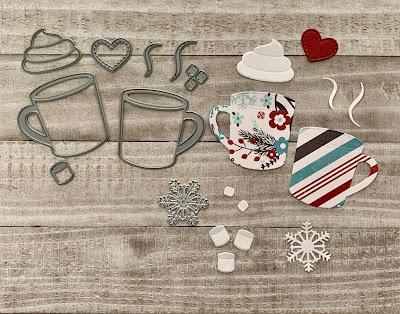 My Favorite Things Hot Cocoa Mug Die