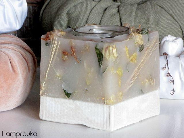 Φτιάξε κερί σε βάση από τσιμέντο