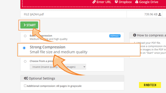 How to compress PDF files to a very small size