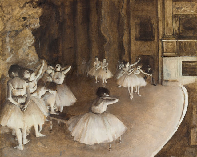 Эдгар Дега - Репетиция балета на сцене (1874)