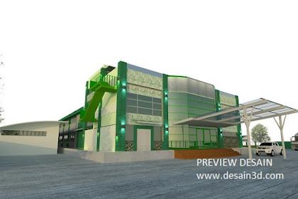3D Exterior Mewah Desain Pabrik Modern Berkualitas
