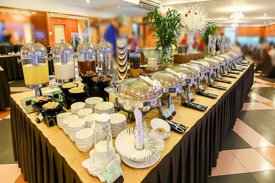 Hình tiệc buffet được setup