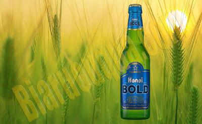 Bia chai Hà Nội Bold