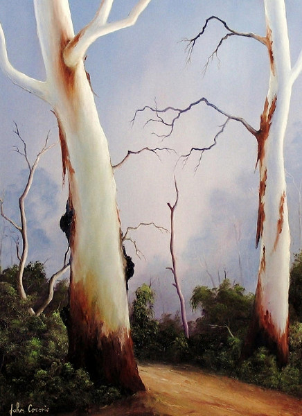 Ghostgums - LANDSCAPE OIL PAINTING BY JOHN COCORIS