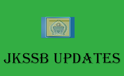 JKSSB Updates for various Exams