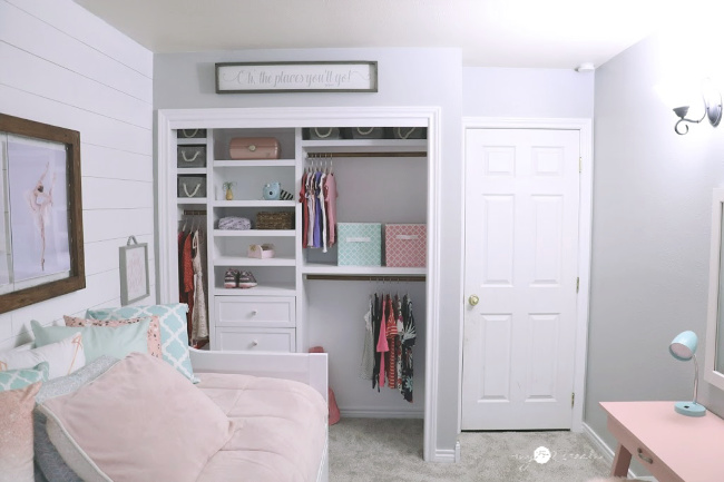 Closet side of room after, MyLove2Create