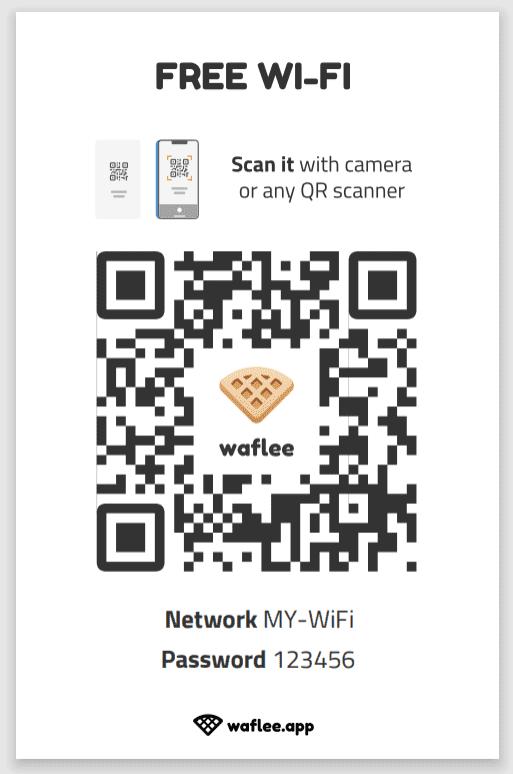 waflee 產生有QRCode的WiFi連線資訊文件