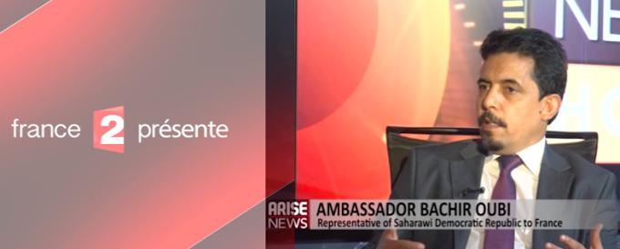 """ممثل جبهة البوليساريو في فرنسا يستوقف قناة """"فرانس2"""" الحكومية بشأن فيلم وثائقي دعائي للإحتلال المغربي للصحراء الغربية."""