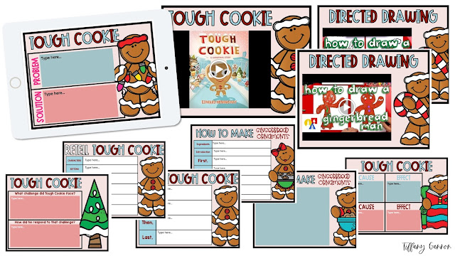 Tough Cookie Christmas activities for kids: posters, worksheets, and cookie craft.