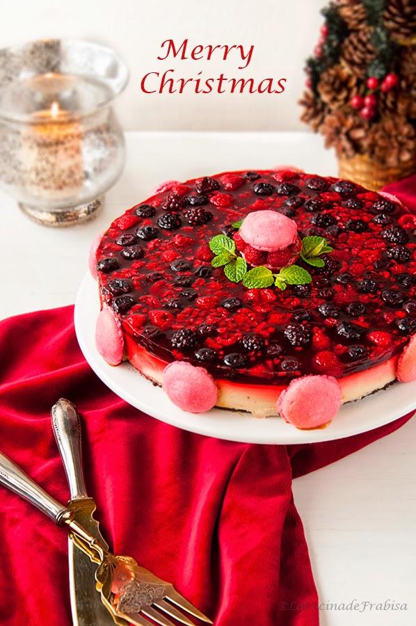 Tarta de Navidad de Frutos Rojos