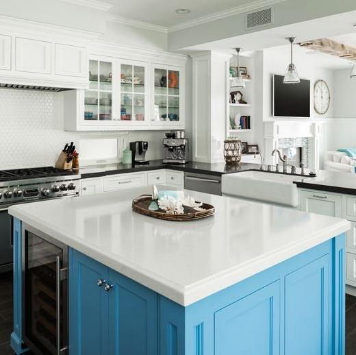 Blue Kitchen Island Coastal Living