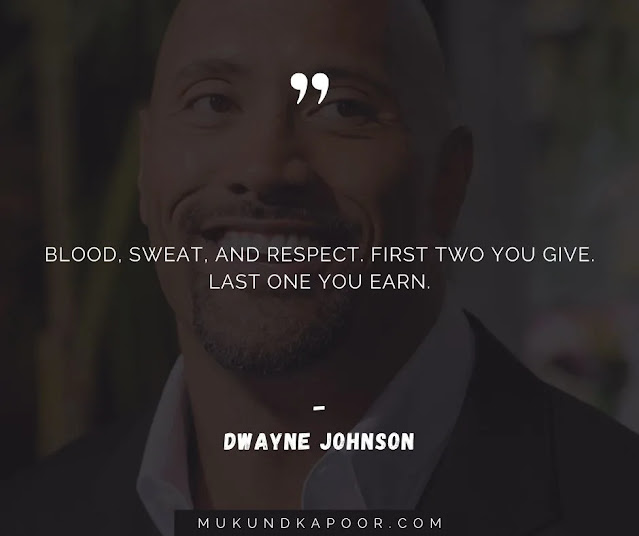 dwayne johnson quotes about hard work