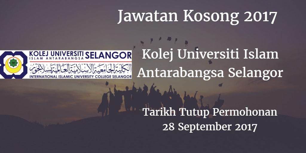 Jawatan Kosong KUIS 28 September 2017