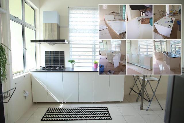 Dapat jimat sehingga dengan buat kabinet dapur for Buat kitchen set sendiri