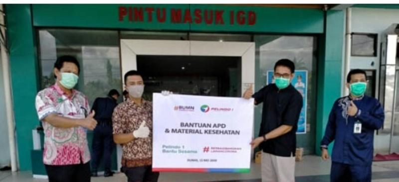 PT Pelindo Dumai, PWP, Alumni ITB dan PT Amerta Indah Otsuka Beri Bantuan ke RSUD