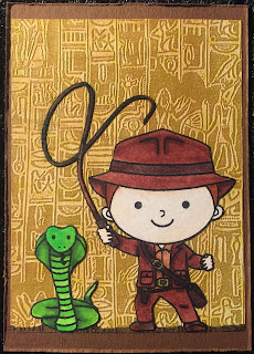 Indiana Jones Egypt Hieroglyph ATC (Artist Trading Card)