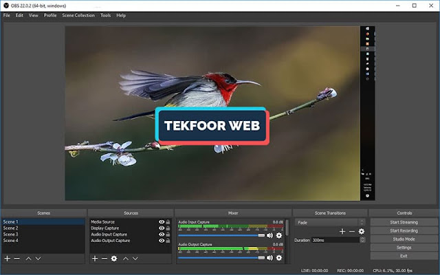تحميل افضل برنامج تصوير الشاشة فيديو للكمبيوتر hd OBS Studio