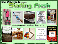 Blog With Friends, multi-blogger projects based on a theme April theme is Starting Fresh | Featured on www.BakingInATornado.com | #recipe #diy