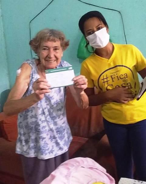 Saúde da Ilha iniciou segunda  01/03 a vacinação contra covid-19 dos idosos com idade entre 80 a 84 anos , em suas casas