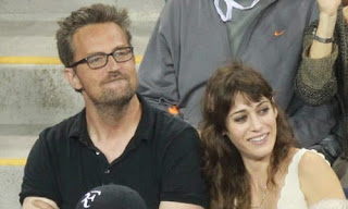 Matthew Perry With Ex Girlfriend Lizzy Caplan At A Ball Game