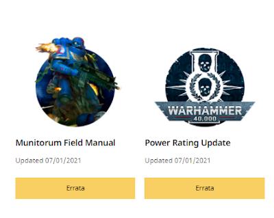 Actualización FAQ Warhammer 40,000
