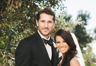 Trevor And His Wife On Their Wedding Day