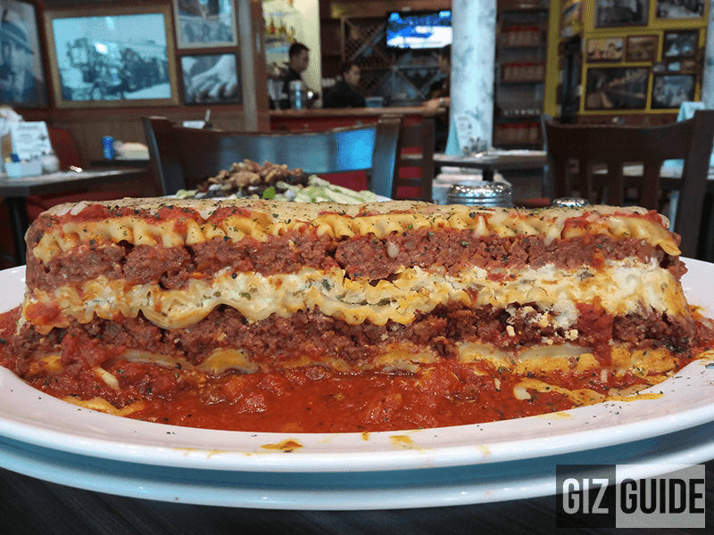 Giant lasagna at Buca di Beppo Philippines