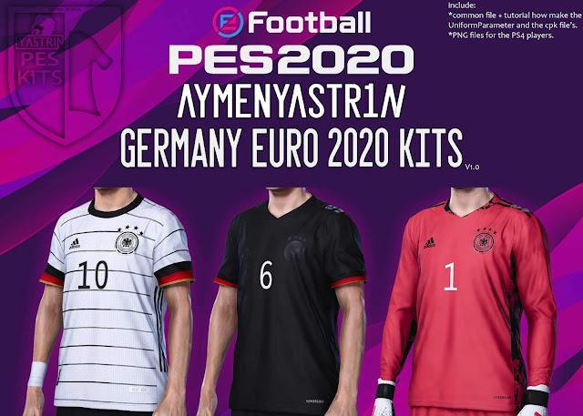 PES 2020 Germany EURO2020 Kits by Aymen Yastrin